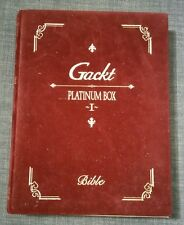 Gackt PLATINUM BOX I 1 CD VHS JAPAN Official Limited Edition RARE Bible