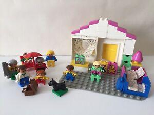 LEGO-DUPLO-1990-S-Vintage-Sets-2790-amp-2608-Bundle-famille-accessoires-maison-etc