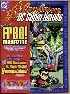 Adventures-With-The-DC-Super-Heroes-2000-fn-6-0-Magazine-Size-Comics-Milk-Promo