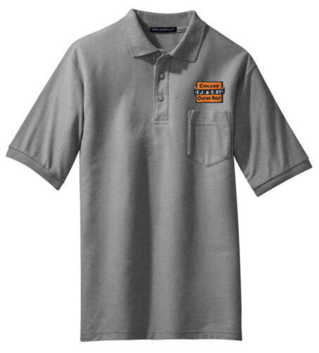 Elgin Joliet and Eastern Railway Embroidered Polo 95