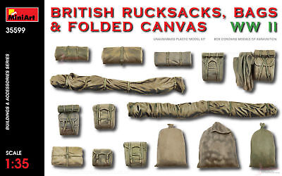 Maquettes Britannique Sacs,sacs à Dos & Toile 2nd Guerre Mondiale Sales Of Quality Assurance Maquettes, Accessoires Nice Miniart 1:3 Échelle 5