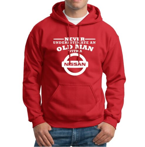 Nissan Never Underestimate an Old Man  Mens Hoodies