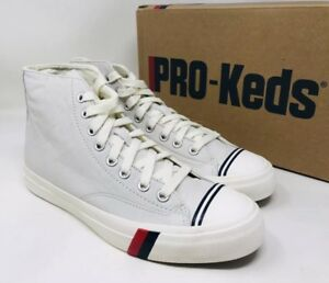 a5bd5960233dc Details about PRO-Keds Men's Royal Leather High-Top Sneakers White Size 9