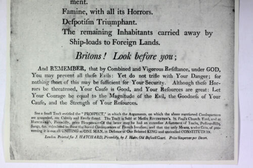 1802 Broadside Napoleon Bonaparte Universal Pillage French Revolution Facsimile