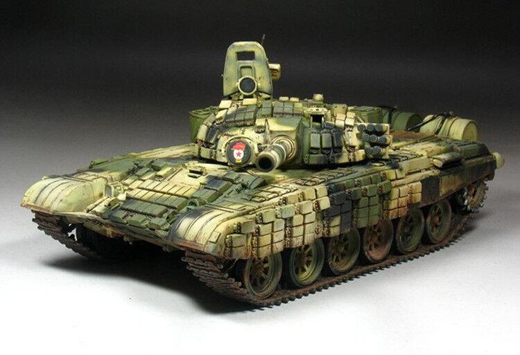 RUSSIAN T-72B B1 MBT W KONTAKT-1 REACTIVE ARMOR 1 35 tank Trumpeter model kit