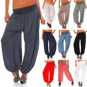 Casual-Pants-Aladin-Harem-Baggy-Yoga-Palazzo-Cotton-Trousers-Boyfriend-Bottoms