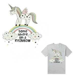 Details about Rainbow Unicorn Iron-on Patches Transfers Stickers for Diy  Clothes Appliqued SE