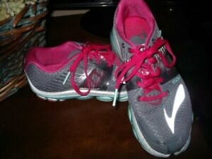 BROOKS-PURE-CADENCE-GRAY-BLACK-PINK-WOMENS-039-RUNNING-SHOES-SNEAKERS-7-5