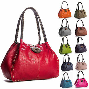 603f89f2a6 New Ladies Big Button Faux Leather Shoulder Bag Handbag Available in ...