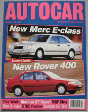 AUTOCAR magazine 29/3/1995 featuring Ford Scorpio 2.0i 16v road test, Rover