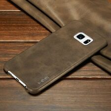 Brown Retro Slim Genuine Leather Back Case Cover For Samsung Galaxy Note 5 S001