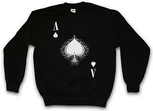 Pik Flush Card Pull de Spades Royal shirt casino Sweat of pour Ace Gamble sueur Poker Nwmvn08