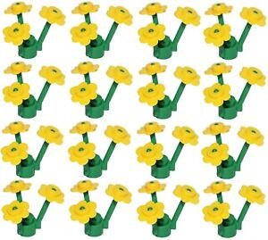NEW-LEGO-12-Flowers-YELLOW-with-16-STEMS-48-Pcs-Little-Flowers-Total