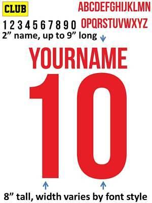 PORTO 2018 IRON ON custom heat press transfer numbers for soccer jersey DIY