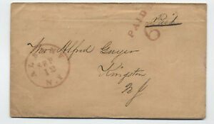 1850s-Albany-NY-paid-6-double-rate-handstamp-to-Kingston-y5286