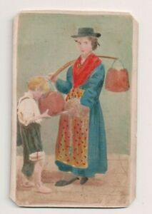 Vintage-CDV-Hand-tinted-Venetian-Water-carrier-traditional-National-Costume