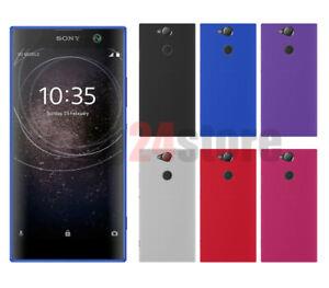 Funda-gel-lisa-Sony-Xperia-XA2-protector-cristal-opcional
