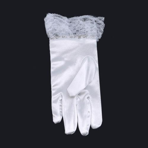 Wedding Party Flower Girl Gloves Short Bow Pupils Girls Performance Gloves H
