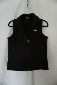 Patagonia-Women-039-s-Black-Synchilla-Fleece-Zip-Up-Vest-Fremont-Bank-VTG-Size-SMALL