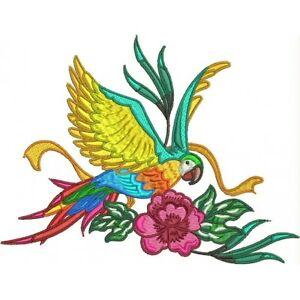 Embroidered Ladies Fleece Jacket - Stunning Parrots PE10 Sizes S - 2XL