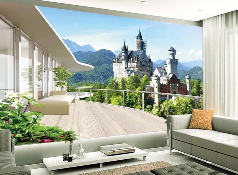 3D Castle Sky 5 Wallpaper Murals Wall Print Wallpaper Mural AJ WALL AU Lemon