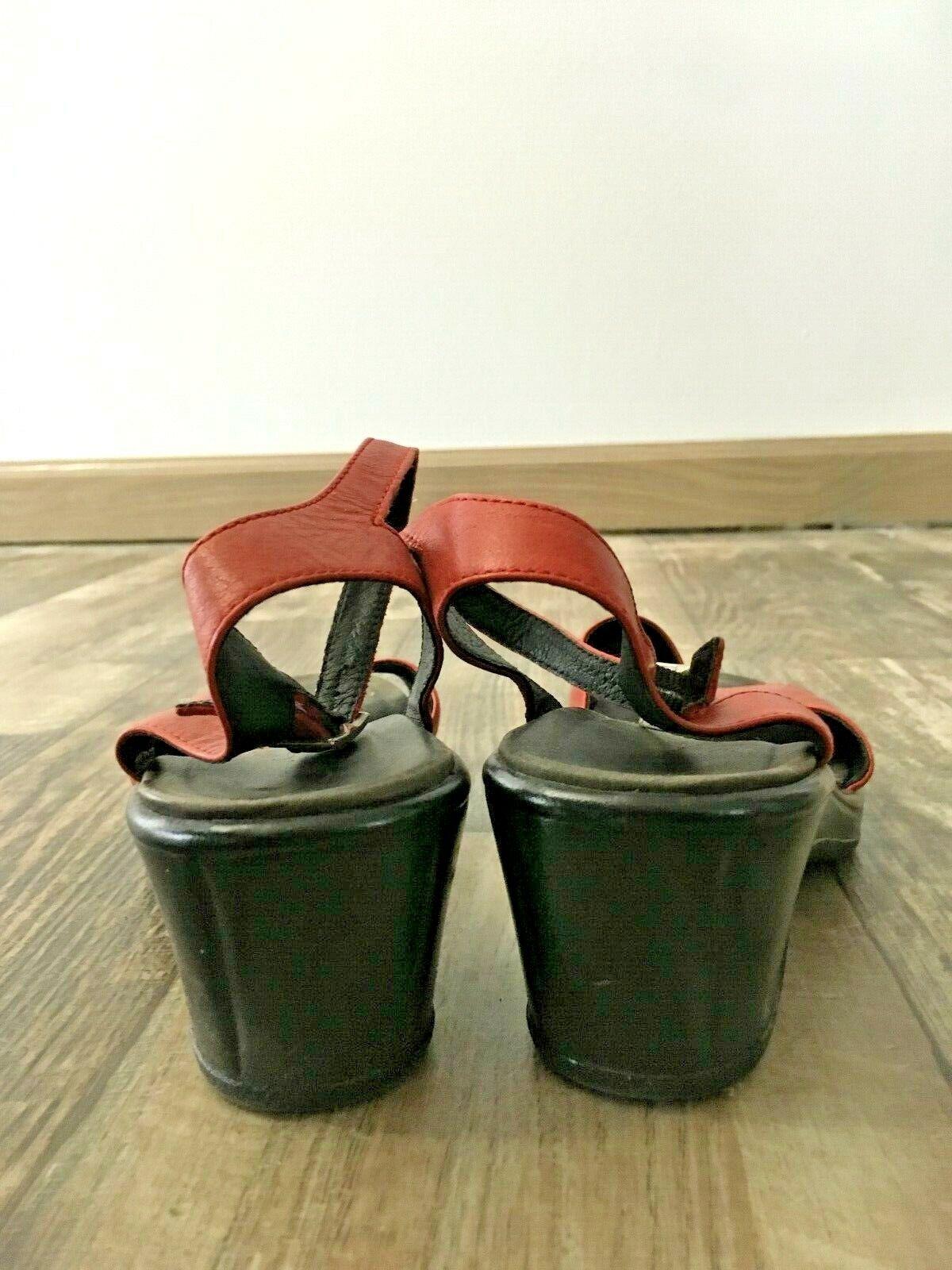 Dansko Red Leather Sandal - 38 - image 3