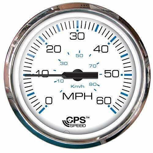 Elegant Stainless Steel 60 MPH GPS Speedometer Ideal for Slow Moving Vessels