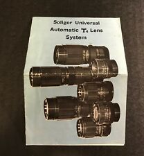 Vintage Soligor Universal Automatic 35mm Film SLR Camera T4 Lens System Guide