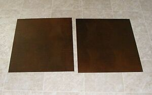 """(TSBC7069) 2 Robus Red Brown Gator Print Synthetic Leather Floor Tile 21"""" X 2 ft"""