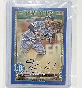 2020-Topps-Gypsy-Queen-Thairo-Estrada-Blue-Auto-42-99-NY-Yankees