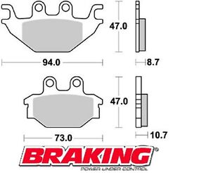 BRAKING-PASTIGLIE-POSTERIORI-CAN-AM-DS-250-2008-BRAKE-PADS-REAR