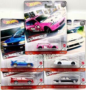 Hot-Wheels-2020-cultura-Modern-Classics-Auto-Conjunto-de-5-Coche-Honda-Nissan-pre-order