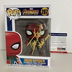 Tom Holland Signed PSA Spider-Man Avengers 287 Funko Pop Iron Spider JSA BAS COA