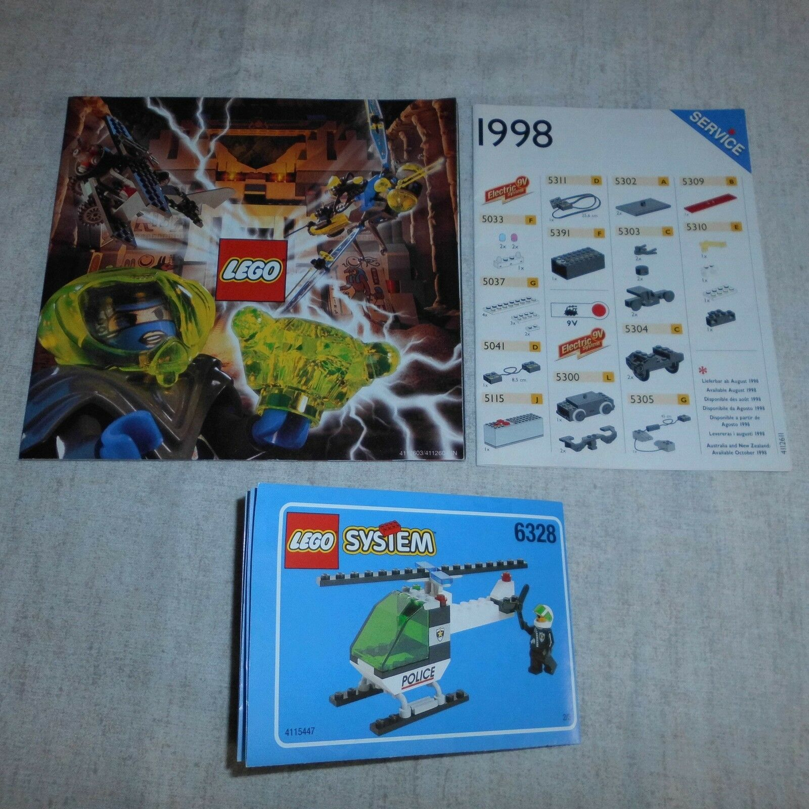 Lego 6328 Police Helicopter Transport. Boxed. 2 Bags Bags Bags Still Sealed. 20 Years Old 645239