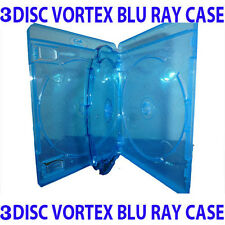 Vortex Blu Ray Triple Case. Holds Three Blu-Ray/DVD/CD. Multi Holds 3 Discs NEW