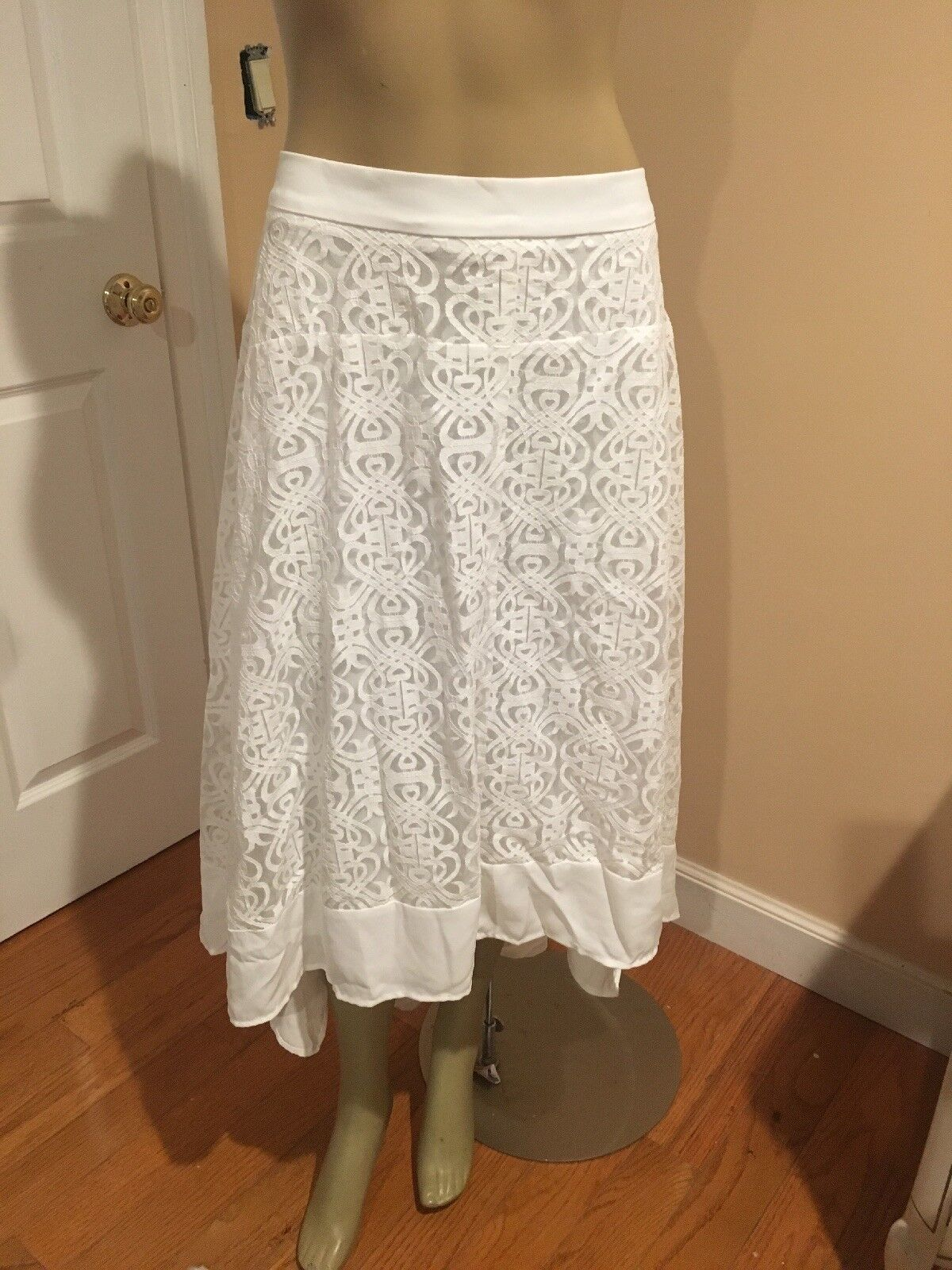Catherines Women's plus Mid Length Skirt  Lace 5X NEW  89.00