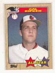 CAL RIPKEN All Star 1987 Topps #609 Orioles Error Variation Oddball Blank Back