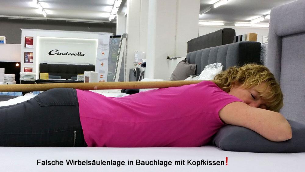 Bauchschläfer- Matratzen-Auflage Körperkissen Bauch schlafen