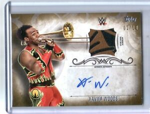 WWE-Xavier-Woods-2016-Topps-Undisputed-GOLD-Autograph-Relic-Card-SN-2-of-10