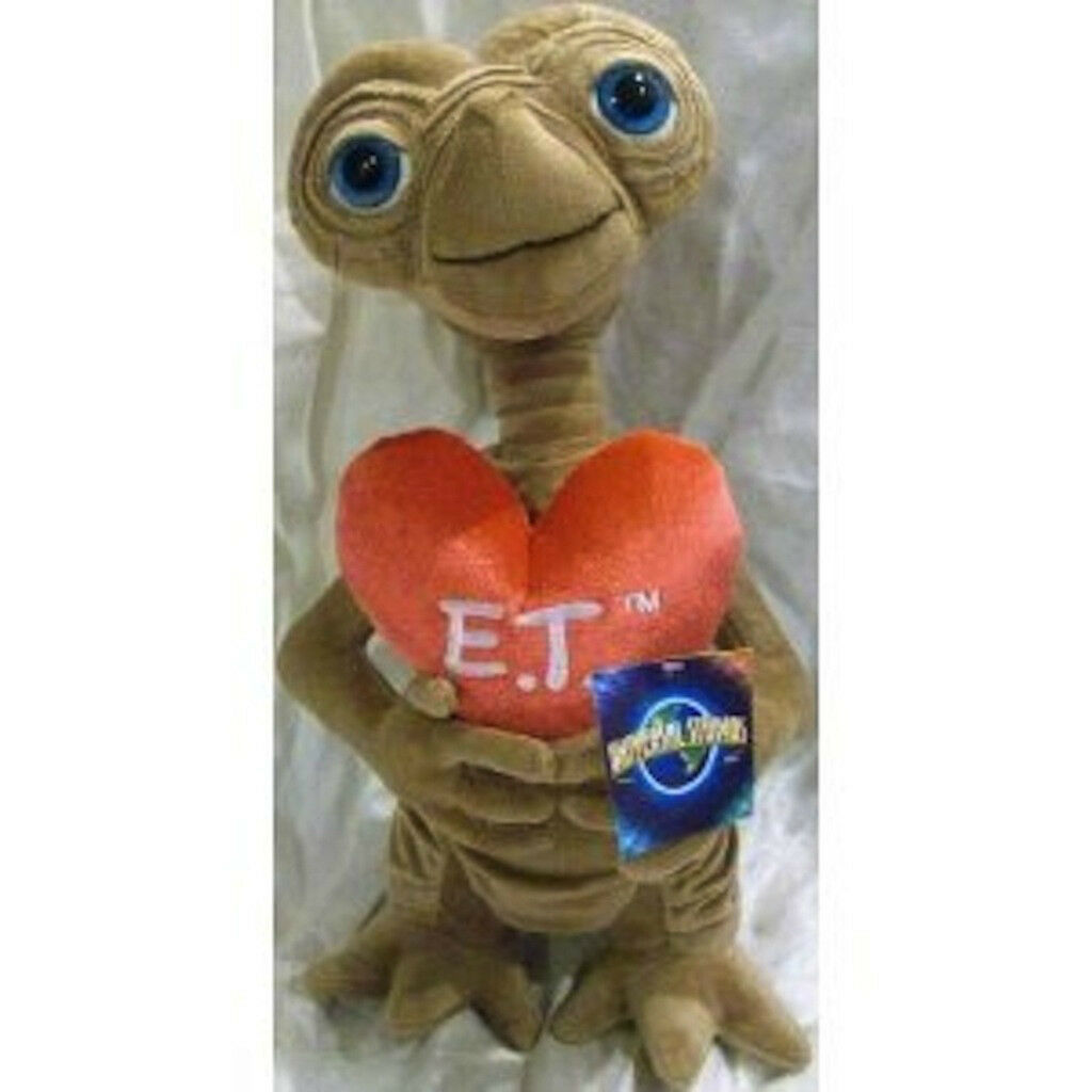 Et Extra-terrestrial 15  Plush Soft Stuffed Doll Big Heart Valentine's Love Nuovo