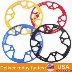 US-BCD104mm-Chainring-MTB-Road-Bike-32-42t-Round-Oval-Chain-Guard-Crank-set-CNC