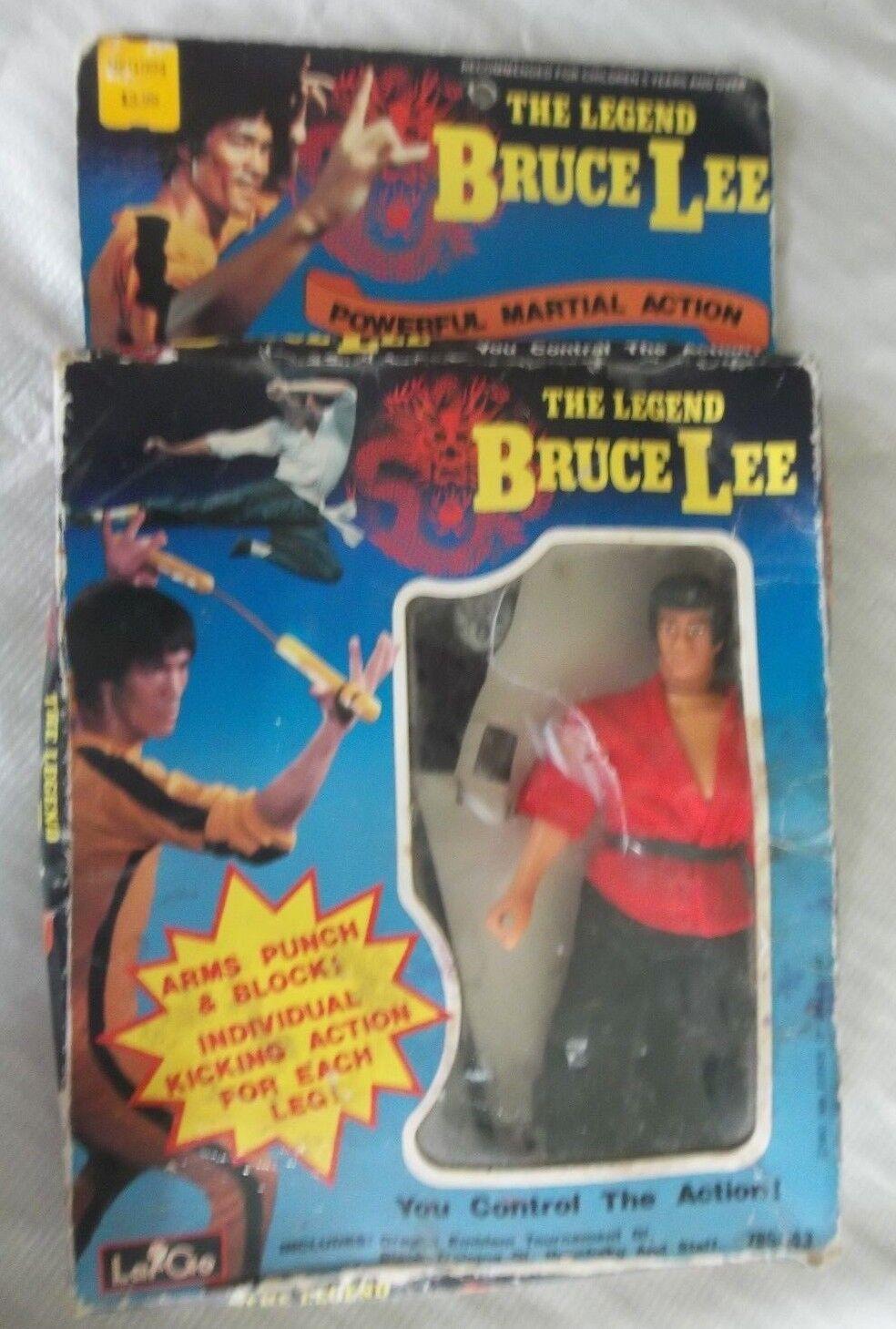Largo la leyenda de Bruce Lee 1986 figura de acción completo en paquete de 885-43
