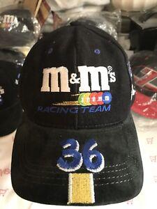 USA-MINT-vtg-36-Ken-Schrader-M-amp-M-039-s-Racing-Team-Black-pit-cap-hat-Modern-Headwear