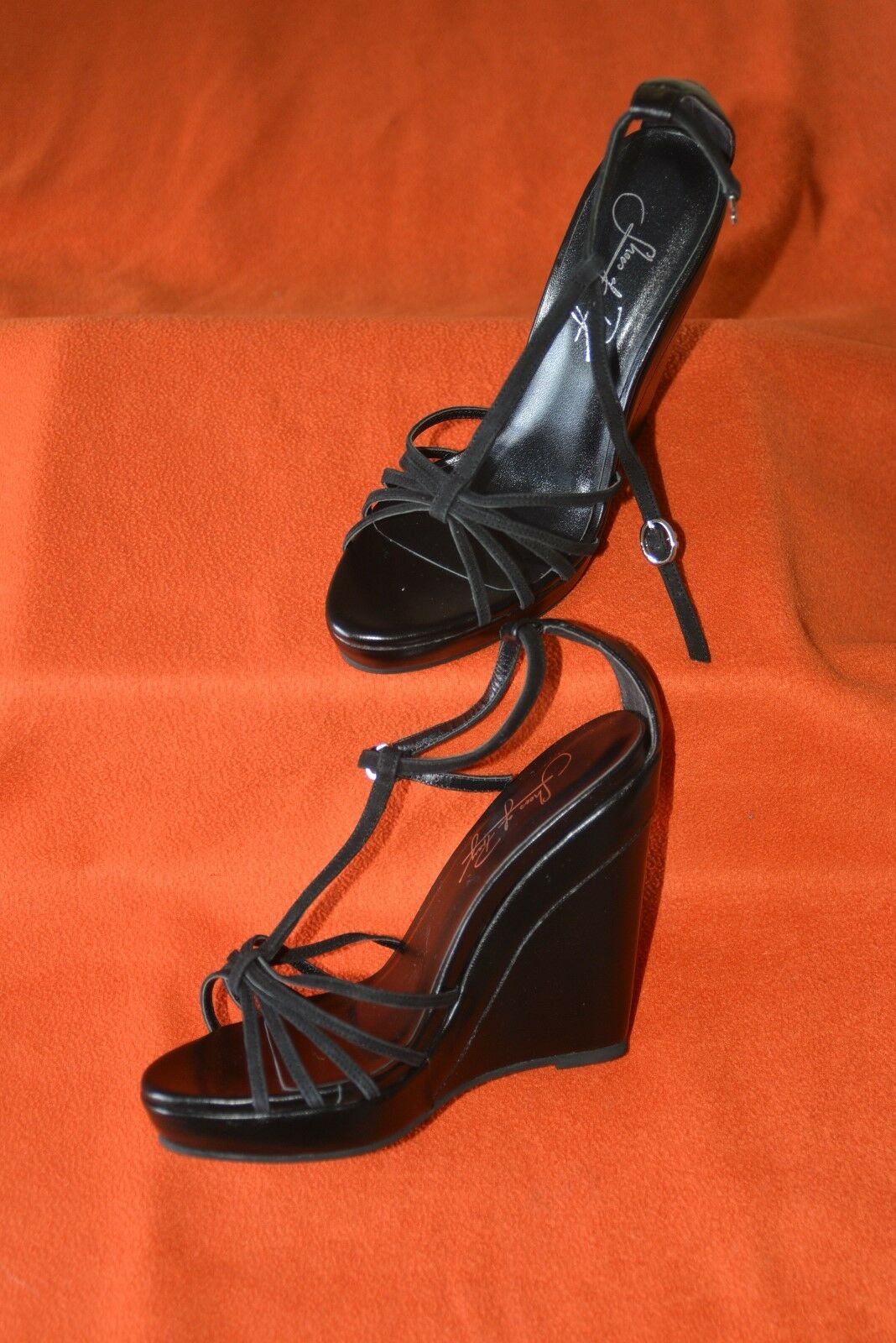 Hand Made Designer Strappy Wedge Sandals by by by  schuhe of Prey  Größe 37 UK4 4d4ce9