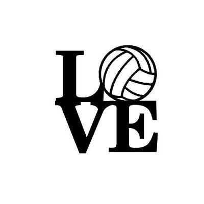 Volleyball Heartbeat vinyl decal//sticker window sports net volley beach serve