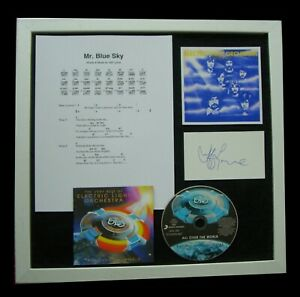 ELO-ELECTRIC-LIGHT-LYNNE-SIGNED-FRAMED-MR-BLUE-SKY-100-GENUINE-FAST-GLOBAL-SHIP