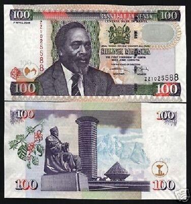 KENYA 100 SHILLINGS 2019 P-NEW UNC REPLACEMENT PREFIX ZZ