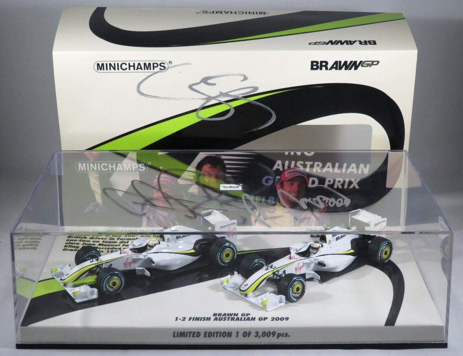 nueva gama alta exclusiva BRAWN GP 2009 AUSTRALIAN GP GP GP SET signed Barrichello Button Brawn MINICHAMPS 1 43  entrega rápida