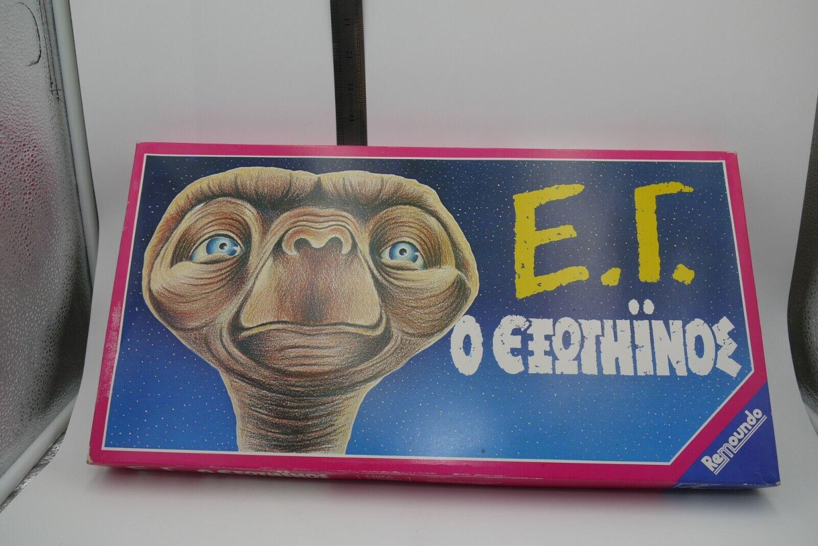 Vintage années 80 E.T l'extraterrestre grec Board Game remoundo non perforé