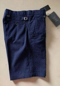 NWT-795-Giorgio-Armani-Mens-Short-Pants-Blue-38-US-54-Eu-Italy